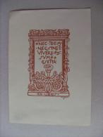 Ex Libris Xilografia GIULIO CISARI (con Firma/autografo) - Ex Libris