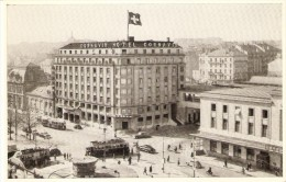 POSTAL DE SUIZA DEL HOTEL CORNAVIN EN GENEVE (TRANVIA-TRAIN-TREN-ZUG) - GE Genève