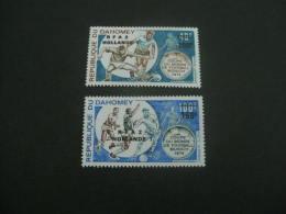 F5793- Set MNh Dahomey-  Overprinted RFA 2 Hollande 1- Worldcup Football Munich 1974 - Coppa Del Mondo