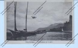 Evian-les-Bains -      Un Aéroplane Sur Le Port - Evian-les-Bains