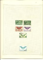 Suiza. Resto De Colección De Sellos Aéreos. Taxa, Hojas Bloques  En 6 Hojas De Album - Sellos