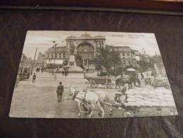 A156.CPA..HONGRIE..BUDAPEST..KELETI PALYAUDVAR..tramway & Attelage....rare Beau Plan Animé.ecrite & Voyagée 1914 - Hongrie