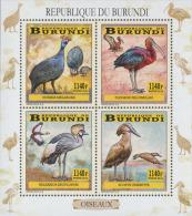 bur14101a Burundi 2014 Wading birds s/s