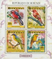 bur14104a Burundi 2014 Birds s/s