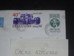 LETTRE ENTIER POSTAL BULGARIE BULGARIA AVEC YT 3066 - VOITURE FORMULE 1 LOTUS - - Bulgarien
