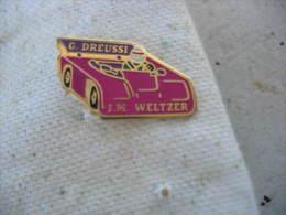 Pin�s caisse � savon avec les conducteurs G. Dreussi et JM Weltzer
