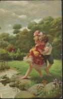 """Alte Kunstkarte  """"Nur Mut!""""   Beschrieben   Vor 1918   Ohne Frankatur - Illustrateurs & Photographes"""