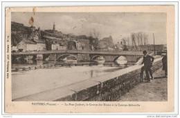 F953  86 POITIERS LE PONT JOUBERT LE COTEAU DES DUNES ET LA CASERNE ABBOVILLE 1917 TIMBRE CACHET - Poitiers
