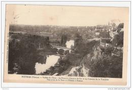 F954  86 POITIERS VALLEE DU CLAIN LE PONT DU CHEMIN DE FER ET LES COTEAUX DE LA TRANCHEE 1911 TIMBRE CACHET - Poitiers