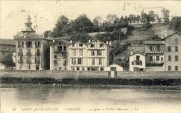 CPA - SAINT-JEAN-de-LUZ, CIBOURE, Le Quai Et Vieilles Maisons - 2 Scans - Saint Jean De Luz