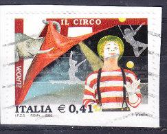 2002 EUROPA  CIRCO   0,41 €  USATO - 6. 1946-.. Repubblica