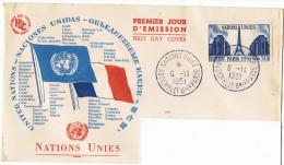 6/11/1951 - FDC - Enveloppe Lettre - Premier Jour - Assemblée De L´ONU à Paris - Yvert Et Tellier N° 912 - FDC