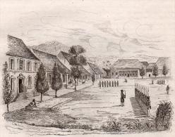 Moluques 1835 Amboine Place D´armes Batou-Gadja Résidence Du Gouverneur 2 Gravures 2 Scans - Books, Magazines, Comics