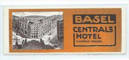 Timbre-réclame Basel CENTRAL-HOTEL - Briefmarken