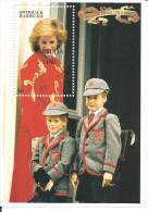 ANTIGUA & BARBUDA - 1997 Lady Diana Sovrastampato BARBUDA MAIL  Foglietto Nuovo** MNH - Royalties, Royals