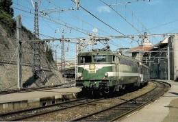 FRANCE : BAYONNE (64) BB 9335 En Juillet 1990 En Tete D'un Hendaye-Paris-Austerlilt Détails  2ème Scan - Trains