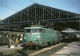 FRANCE : BRIVE LA GAILLARDE  (19) BB 9273 Rapide Paris-Toulouse En 1967 Détails  2ème Scan - Trains