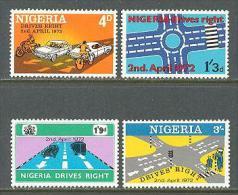 1972 NIGERIA INTRODUCTION OF THE RIGHT TRAFFIC MICHEL: 262-265 MNH ** - Nigeria (1961-...)