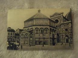 Firenze - Il Battistero - 1927 Animata Carrozze E Persone - Timbro Le Più Belle Terme Del Mondo Salsomaggiore - Firenze