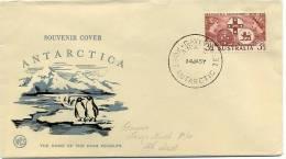 Australia Antarctic Terr.  1957 Wesley Souvenir Cover Davis Base Postmark - Cartas