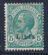 Libya, Scott # 3 Mint Hinged Italy Stamp Overprinted, 1912 - Libya