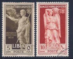 Libya, Scott # 77-8 Used Caesar, Goddess, 1938 - Libya