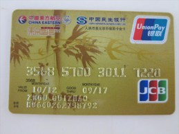 China Invalied Credit Card,China Eastern Airlines  Mileage Card(backside With Scratch) - Avions