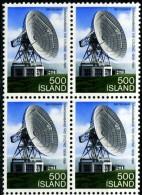 NE4772 Iceland 1981 Communications Satellite Block 1v MNH - 1944-... Republic