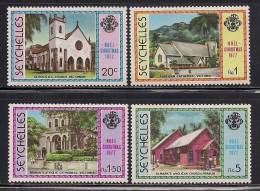 Seychelles     Christmas 1977 (Churches)    Set   SC# 405-08 MNH** - Seychelles (1976-...)
