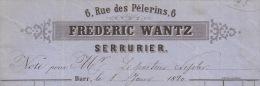 F64 - BARR 1880 - FREDERIC WANTZ - SERRURIER - ALSACE - BAS RHIN - 67 - - France