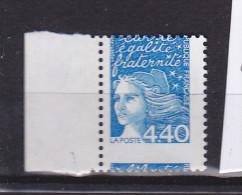 FRANCE N° 3095 4F40 BLEU MARIANNE DE LUQUET PIQUAGE A CHEVAL NEUF SANS CHARNIERE BDF - Unused Stamps