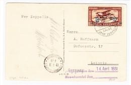Ägypten - Zeppelin AK Sieger #105Ax Von Cairo Nach Leipzig - Poste Aérienne