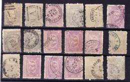 Ägypten - Ausgabe Boulaq Lot Von 16 Gebrauchte Marken - 1866-1914 Khédivat D'Égypte