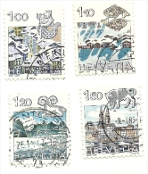 1982 - Svizzera 1156/59 Ordinaria C3355, - Gebraucht