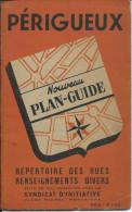 PLAN GUIDE De PERIGUEUX 24,  Année 40/50 - Toerisme