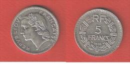 RARE   //  5  FRANC 1938  // COUPS TRANCHE  SINON   SUP - France
