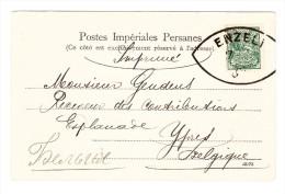 IRAN - 1903/04 3 Ch. EF Auf Drucksache AK (Bushire, Une Rade) Ab Enzeli Nach Ypres Belgien - Iran