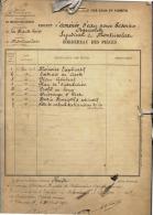 43 - MONTUSCLAT -  HAUTE- LOIRE  - 1912 -  AMENEE EAU  -  OUVRAGE D'ART: Anciens Plans , Descriptifs , Devis ..  9 Scan - Travaux Publics