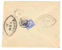 Irak - 1910 Brief Nach Dizfoul Persien Frankierst Auf Rückseite Indien 1902 2a. 6p. Entw. Bagdad - Iraq
