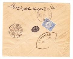 Irak - Brief Von Kerbela E.F. 1 Pia. Mit Transit-O Bagdad 1 Und AK-Stempel Ispahan - Iraq