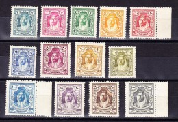 Jordanien 1927 Mi.# 119-131 * SG.#159-171* - Jordanie