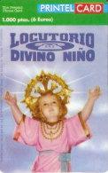 TARJETA DE PRINTELCARD DE LOCUTORIO DIVINO NIÑO DE 1000 PTAS (OCTUBRE 1999)  TIRADA 1000 - Spagna