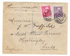 R-Brief 13.9.1908 Mit 20 U. 60pa. Entw. Jaffa Geprüft - - Levante-Marken