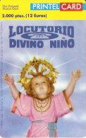 TARJETA DE PRINTELCARD DE LOCUTORIO DIVINO NIÑO DE 2000 PTAS (OCTUBRE 1999)  TIRADA 1000 - Spagna