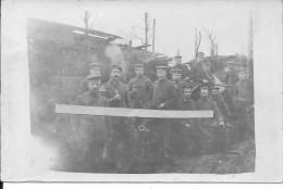 Warvilliers Rosière En Santerre Somme Minenwerfer De 76mm Et Ses Servants 1carte Photo 14-18 1914-1918 Ww1 WwI Wk - Guerre, Militaire