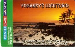 TARJETA DE PRINTELCARD DE YOHANSYS LOCUTORIO DE 1000 PTAS (SUNSET) (JULIO 2001)  TIRADA 2000 - Paisajes