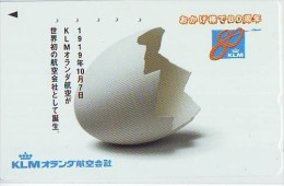 Télécarte Japon * AVION * KLM  (30)  Japan Phonecard * AIRPLANE * AIRLINES * AVIATION * TK VLIEGTUIG - Vliegtuigen