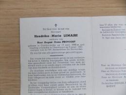 Doodsprentje Hendrika Maria Lemaire Oostduinkerke 19/4/1882 Nieuwpoort 5/3/1963 ( August Frans Provoost ) - Religion & Esotérisme