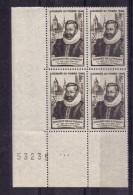 BLOC DE QUATRE  N* 754 ( Numéroté 53235) NEUF** - Unused Stamps