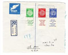 R-Flug Brief 1.5.1949 Ab Tel Aviv Mit  Mi.# 2 4 U. 5 Mit Tabs - Israel